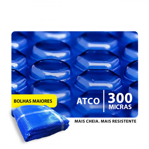 Capa Térmica Atco Advanced Blue 300 micras Piscina Aquecida
